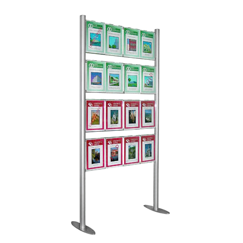 Estate agent display - upright ladder with 16x A4P displays