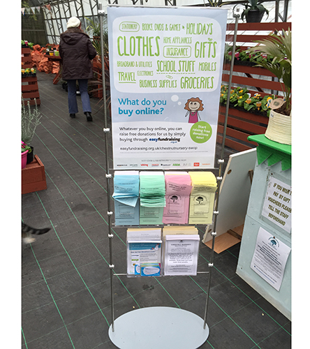 stand for A2 poster with A5 and third A4 leaflets