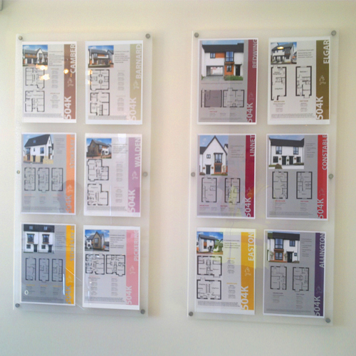 Wall poster panels with removable A4P split batten holders