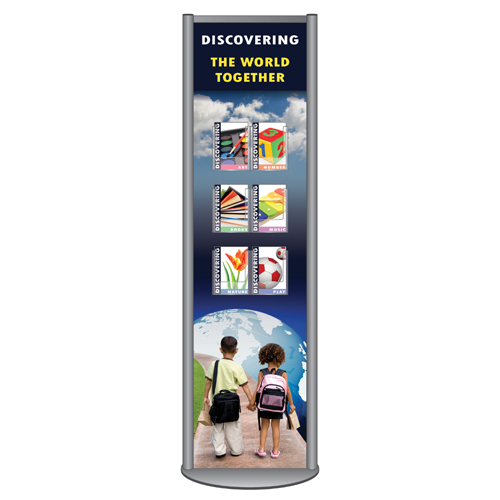 Freestanding sign with 6x A5P leaflet dispensers