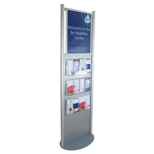 Health centre brochure stand for poster and leaflets
