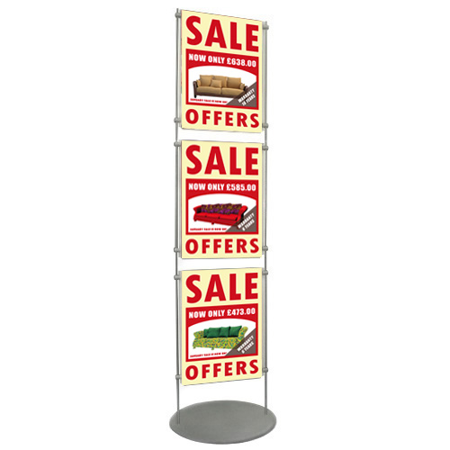 10mm bar stand for 3x A3P poster holders