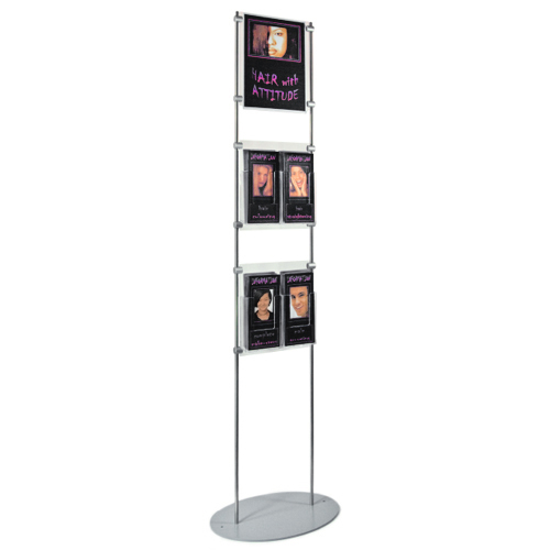 1.5m information stand - A4P poster holder with third A4P leaflets