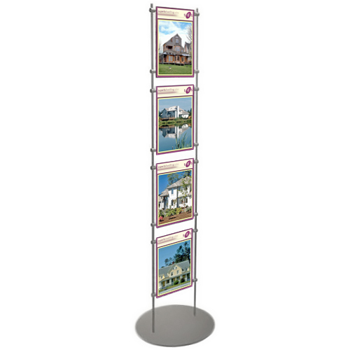 Estate agent stand for 4x A4P posters
