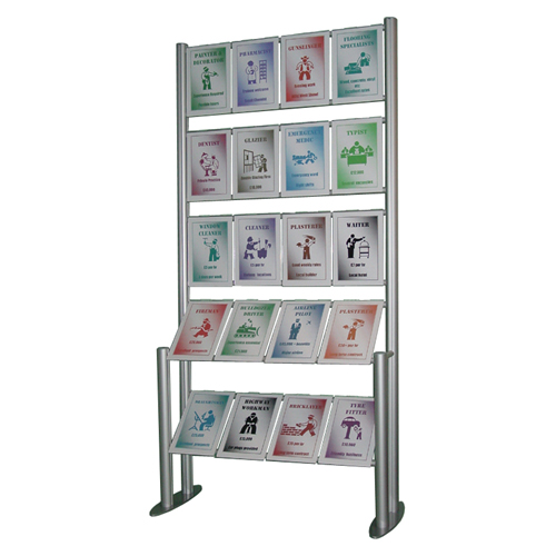 Free standing poster display - combi ladder with 20x A4P