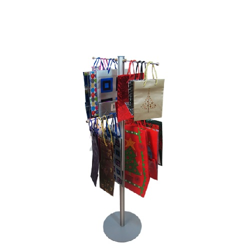 Lite bag stand 1200mm with 4 hangers fully loaded