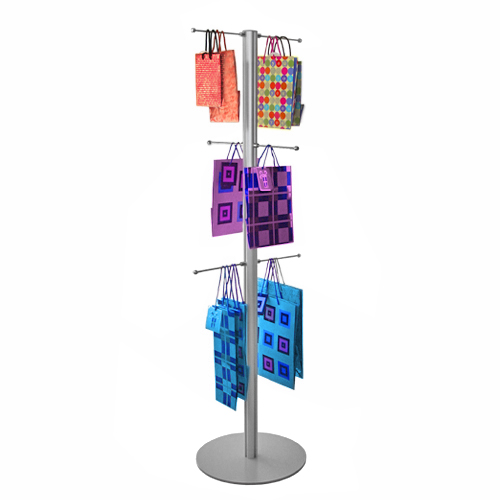 Original carrier bag stand 1500mm with 6 hangers