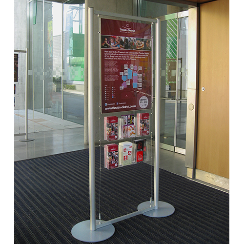 Milton Keynes Theatre poster and brochure stand
