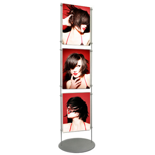 PF6: 1.5m poster stands - acrylic holders between 10mm bars
