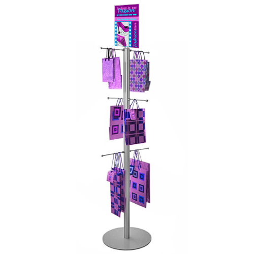 VF2A: Poster-top carrier bag stands