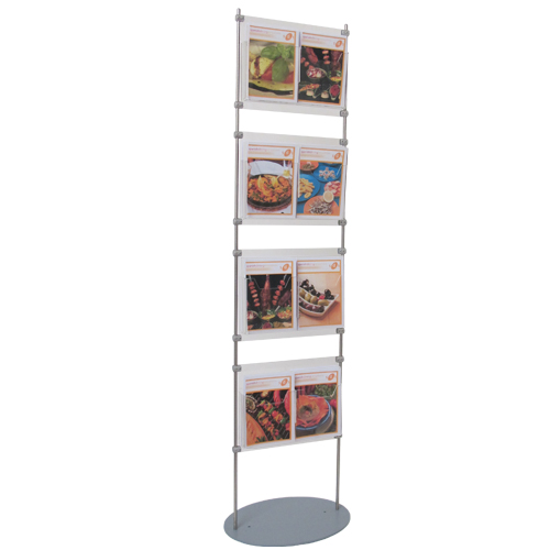 LF6: Literature stands - holders on 10mm bars