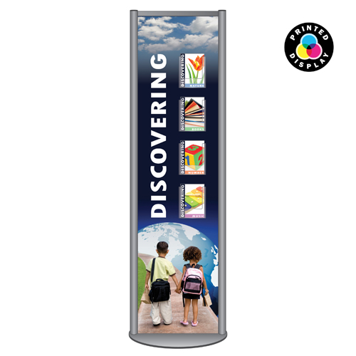 LsF2: 2m printed panel leaflet stands in aluminium frame