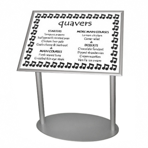 PF4A: Snap frame lecterns 2-leg (angled poster stands)