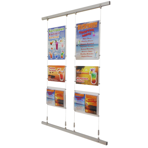 2x A3P and 2x A4L poster holders with A5P leaflet dispensers